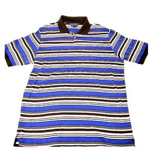 Vintage Polo Golf by RL Striped Polo Shirt Men's L